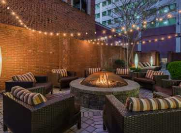 Courtyard Downtown Outdoor Space