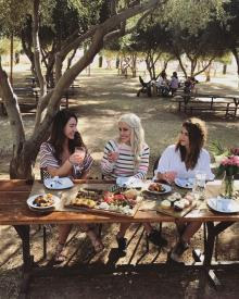 Queen Creek Olive Mill Grove Girls Eating