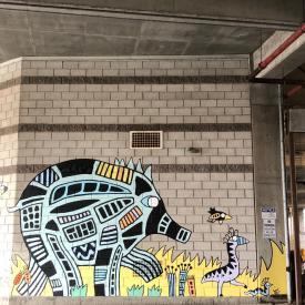 Hudson green garage