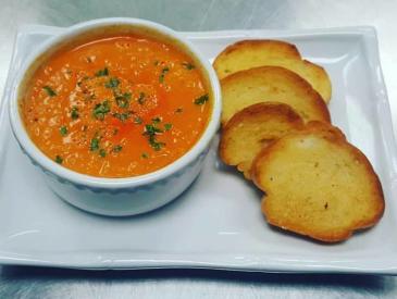 Tomato Basil Soup at Katharine & Company