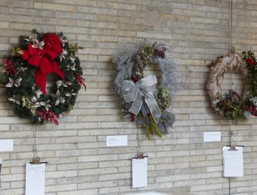 Wreath Display & Silent Auction