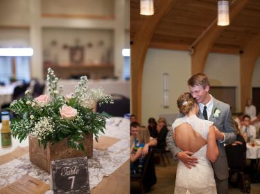 Wedding photos inside Washington Township Park Pavilion (Must credit Erika Brown Photography)