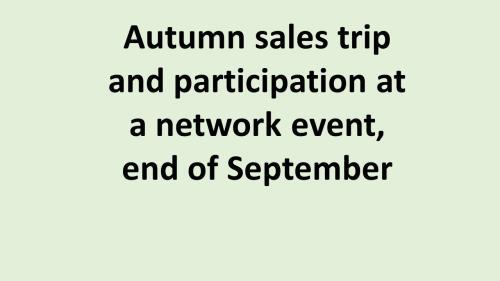 UK Autumn sales trip