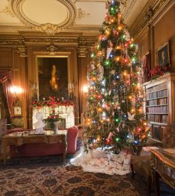 The halls are being decked!  Staatsburgh State Historic Site is preparing for its festive Gilded Age Christmas, featuring sumptuous decorations throughout the mansion and special children's programs from late November through New Year's Eve.