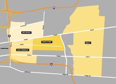 Old Towne East Neighborhood Map
