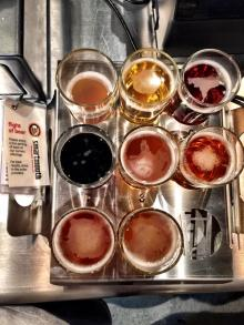 Beer Flight at Smartmouth Brewing Company in Norfolk
