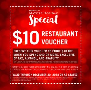 Mayor's Holiday Restaurant Voucher
