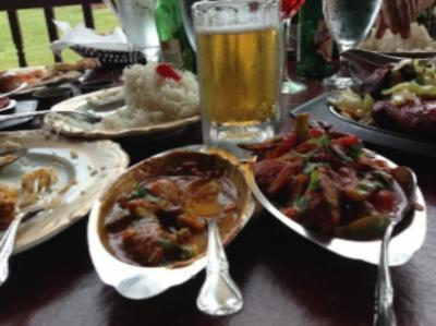 A meal at Maharaja