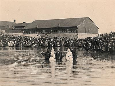 Baptism at Work House Pond Lexington