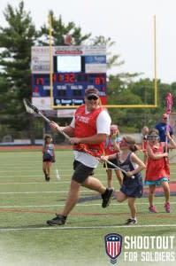 Dad & Daughter playing Lacrosse
