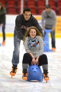 Couple ice skating at 440 Foundry Pavilion - Athens, Georgia