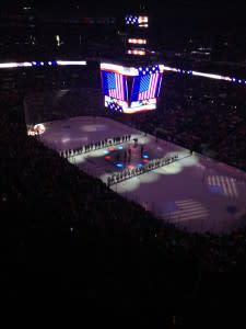 Hockey arena aerial