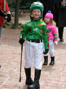 Boy in jockey suit
