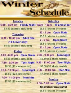 Roller Dome North Winter Schedule
