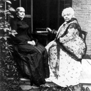 Susan B. Anthony with friend Elizabeth Cady Stanton
