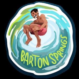 Visit Austin Barton Springs Pool Sticker