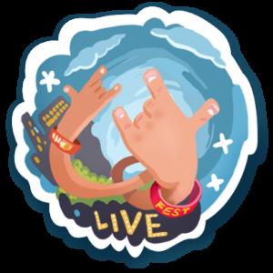 Visit Austin Live Music sticker