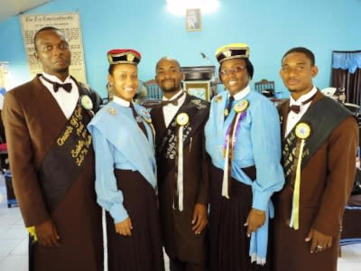 Five members of the Church of God and Saints of Christ