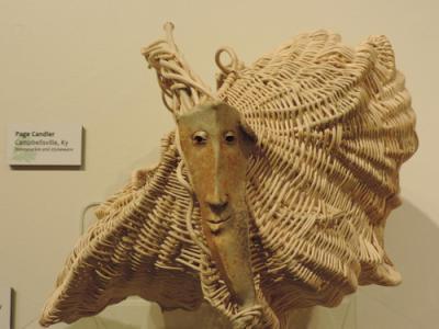 Closeup of ornate basket