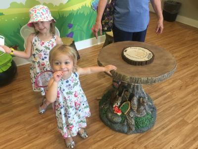 Little girls on the fairy door trail
