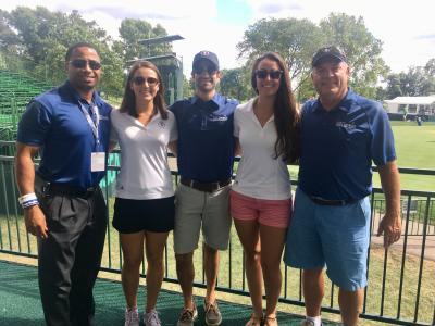 Ariana and fellow Sports Commission staff at the 2016 U.S. Open