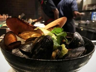 Bowl of clams at The Keep bar & restaurant inside LeVeque Tower