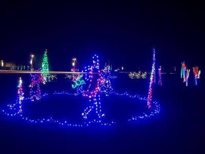 Holiday lights at Hummel Park in Plainfield