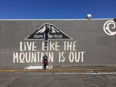Sumner Live Like the Mountain Is Out Mural
