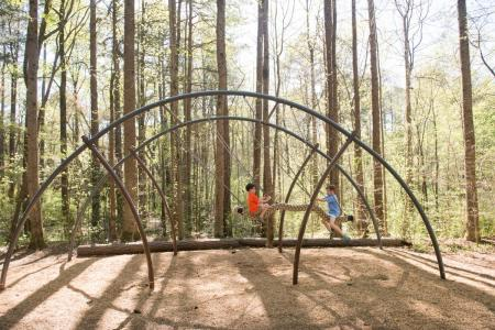 Boys at Nature Center playground