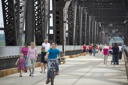 Big Four Bridge bike