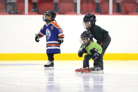 Kids playing ice hockey - Athens, Georgia