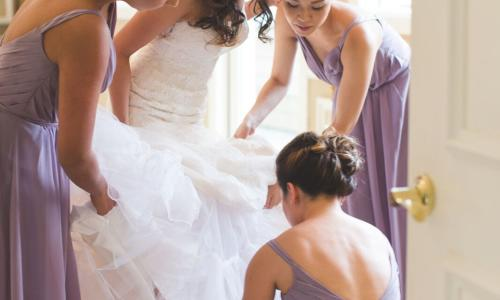 The Harris Co. Bride with Bridesmaids