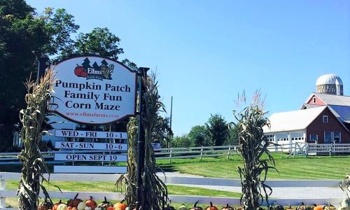Ellms Family Farm Entrance Sign