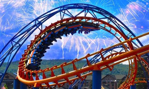 Great Escape Roller Coaster and Fireworks