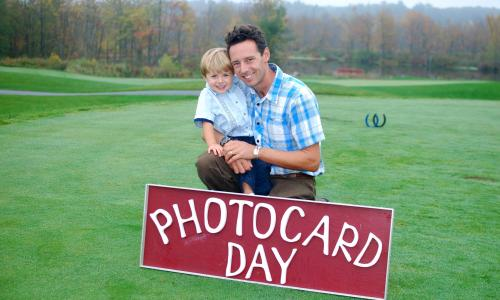 OTS Photos Photocard Day with father and son