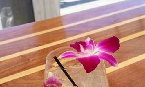 Lake Local Drink with Hibiscus