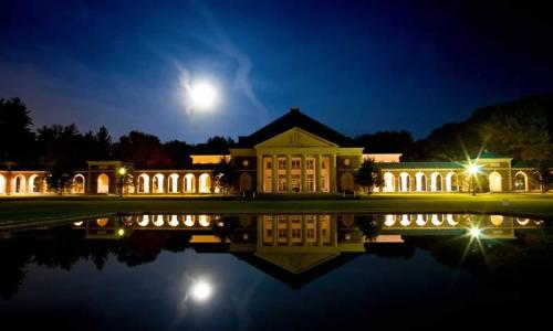 Hall of Springs at Night