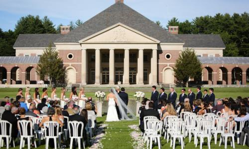 Outdoor Wedding Ceremony at the Hall of Springs