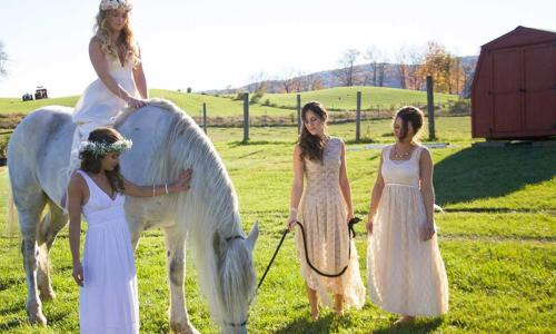 Bride on Horse at Lakota's Farm