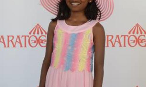 OTS Photos Fabulous Fillies Day with young girl in track hat