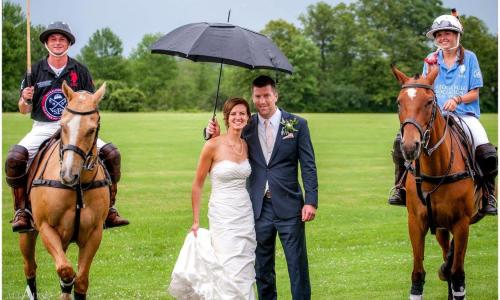 Saratoga Polo wedding photo