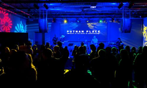 Putnam Place Shot of Stage from behind the crowd