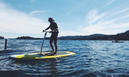 Lake George Kayak girl on paddleboard