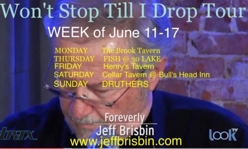Jeff Brisbin June Schedule