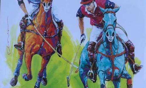 Saratoga Polo Frankie Flores poster