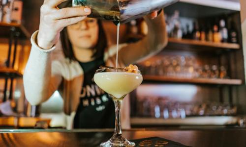 Capital Craft Beverage Trail bartender pouring drink