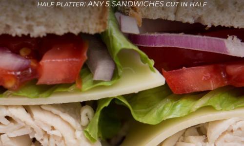 Saratoga's Broadway Deli Sandwich platter