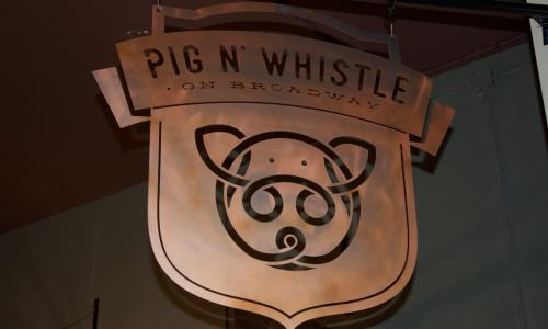 Pig N' Whistle outdoor sign