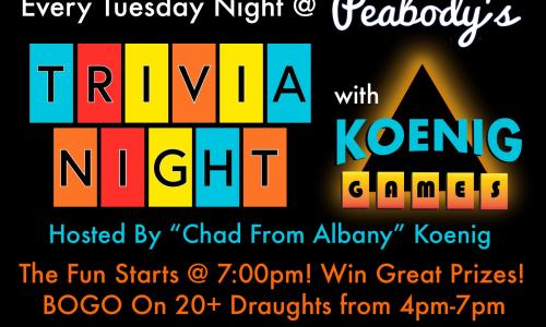 Every Tuesday Night @ Peabodys!