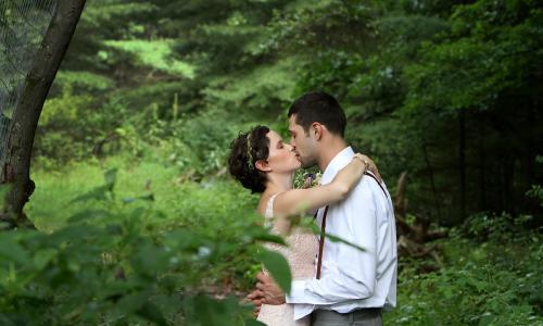 Saratoga Springs Backyard Wedding Image